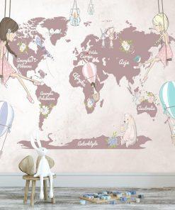 Dzieci臋ca tapeta z map膮