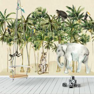 fototapeta dziecięca z motywem dżungli i tropików