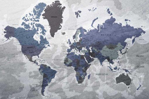 Tapeta z państwami i oceanami