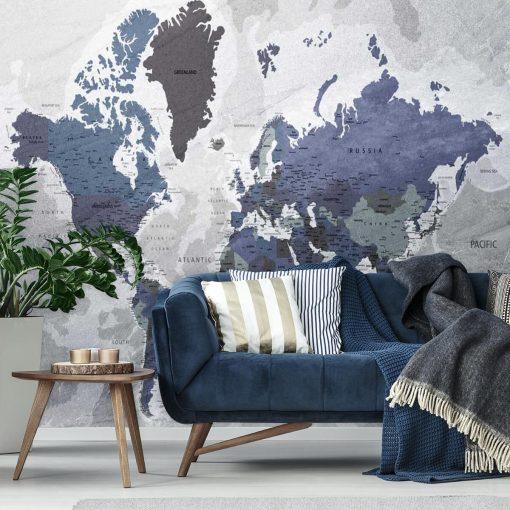 Fototapeta z państwami świata