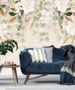 Fototapeta w białe kwiaty do pokoju