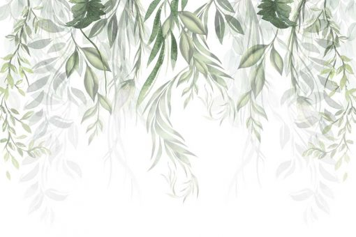 Tapeta do salonu z motywem botanicznym