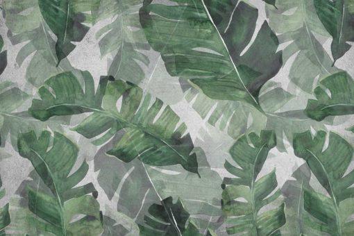 Tapeta zielone liście z dżungli