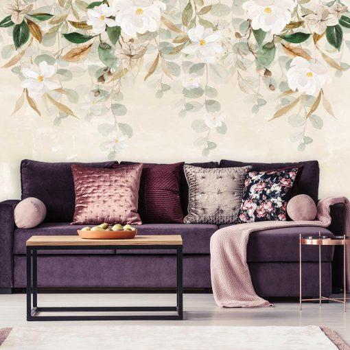 Fototapeta w białe kwiaty do pokoju gościnnego