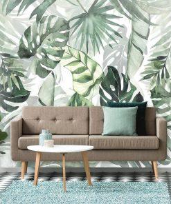 Foto-tapeta zielone liście z tropików