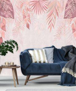 Fototapeta z różową kompozycją