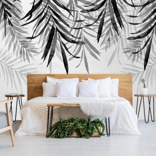 Tapeta z ga艂膮zkami palmy