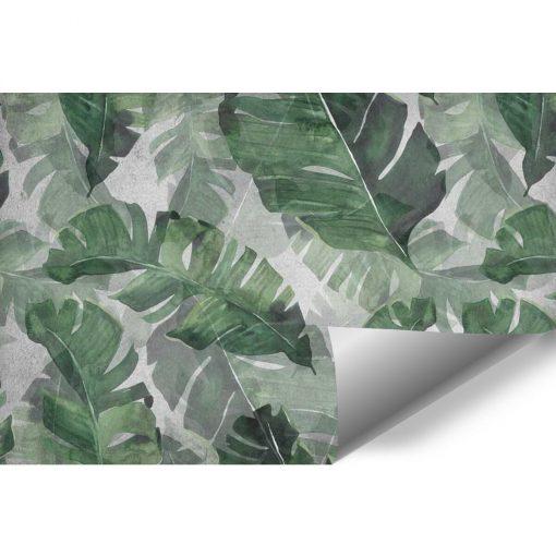 Tapeta z zielonymi liśćmi