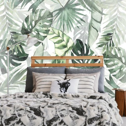 Tropikalna tapeta z ro艣linami