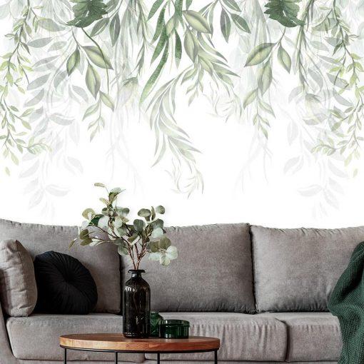 Tapeta z zielonymi roślinami