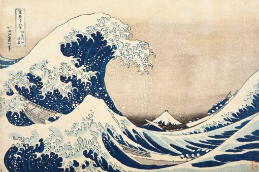 Wielka Fala w Kanagawie Hokusai - tapeta inspirowana obrazem