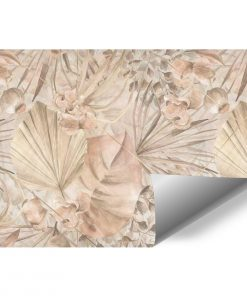 Artystyczna fototapeta- Palmowe li艣cie do jadalni