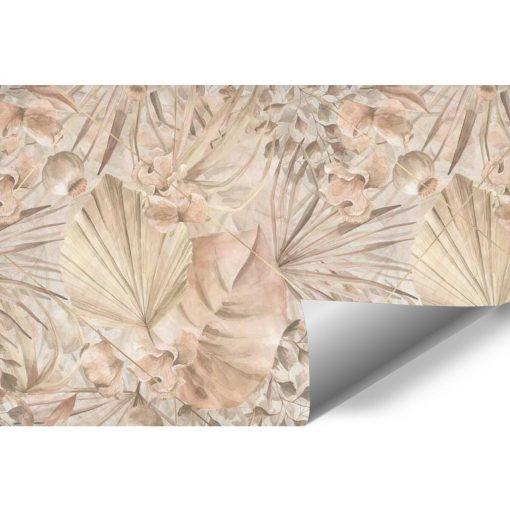 Artystyczna fototapeta- Palmowe liście do jadalni