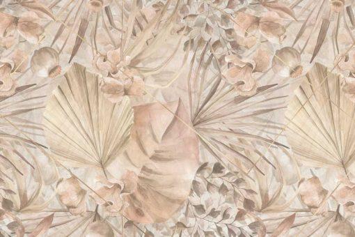 Artystyczna fototapeta - Palmowe liście do przedpokoju