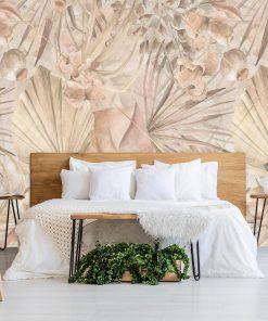 Artystyczna fototapeta - Palmowe li艣cie do sypialni
