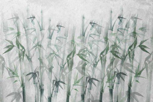 Artystyczna fototapeta w bambusy