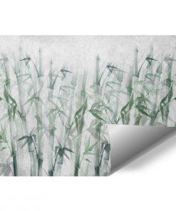 Artystyczna fototapeta w bambusy na klatk臋 schodow膮