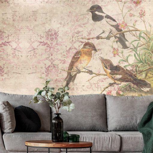 Artystyczna fototapeta z ptakami do biura