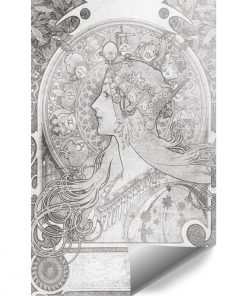 Czarno-bia艂a fototapeta - Zodiak na klatk臋 schodow膮