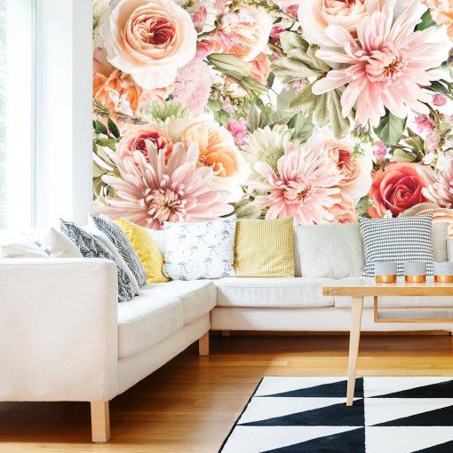 Foto-tapeta z kwiatowym motywem