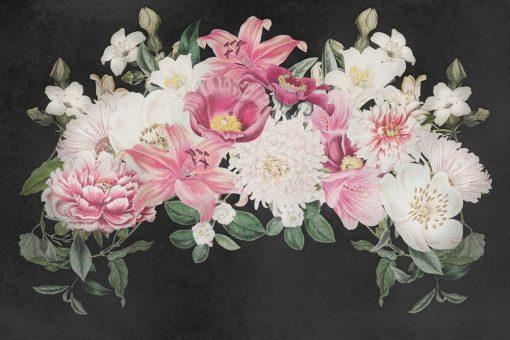 Foto-tapeta z kwiatowym stroikiem
