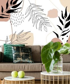 Foto-tapeta z motywem abstrakcji i liści