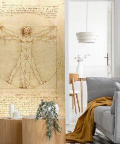 Fototapeta inspirowana Leonardo da Vinci do sypialni