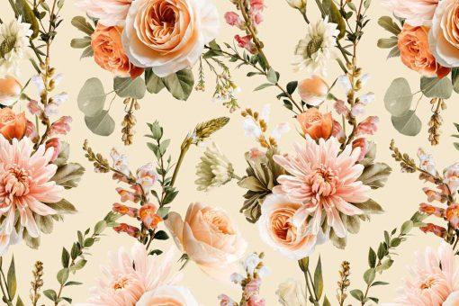 Fototapeta w barwne kwiaty