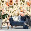 Fototapeta w barwne kwiaty do przedpokoju