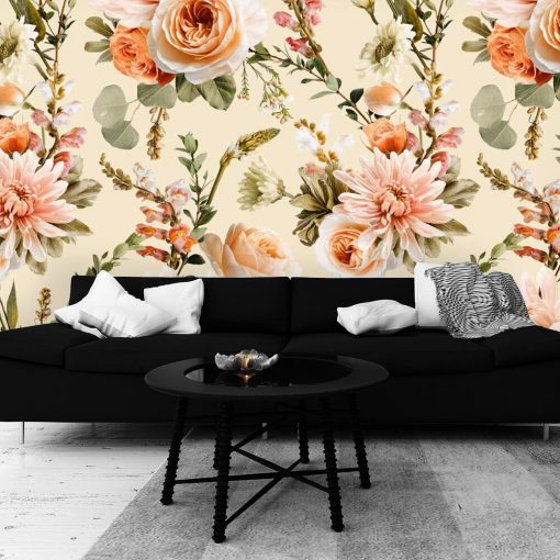 Fototapeta w barwne kwiaty do salonu