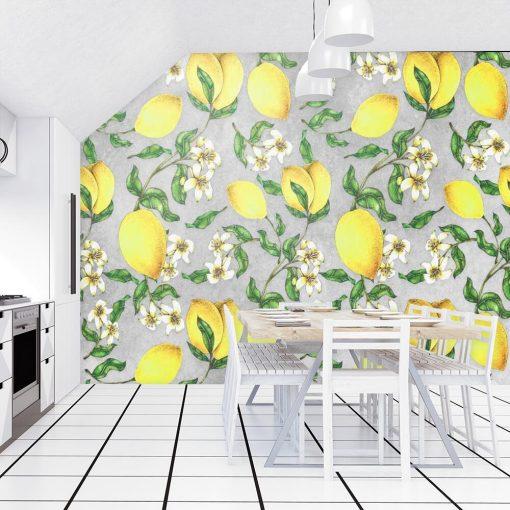 Fototapeta z cytrynkami do kuchni