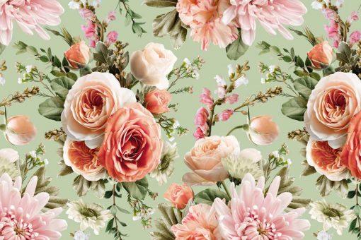 Fototapeta z letnimi kwiatami