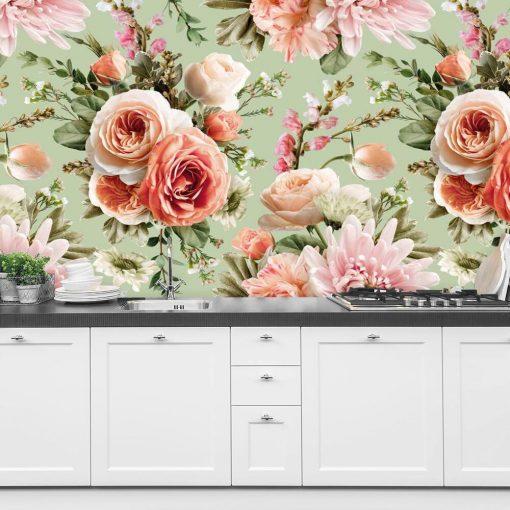 Fototapeta z letnimi kwiatami do kuchni