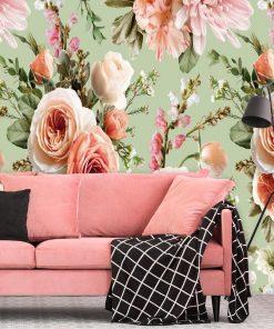Fototapeta z letnimi kwiatami do salonu kosmetycznego