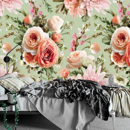 Fototapeta z letnimi kwiatami do sypialni