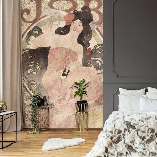 Fototapeta z reprodukcj膮 plakatu Alfonsa Muchy do sypialni