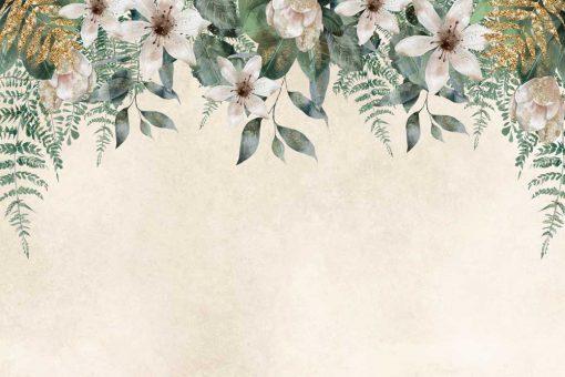 Harmonijna fototapeta z kwiatowym wzorem