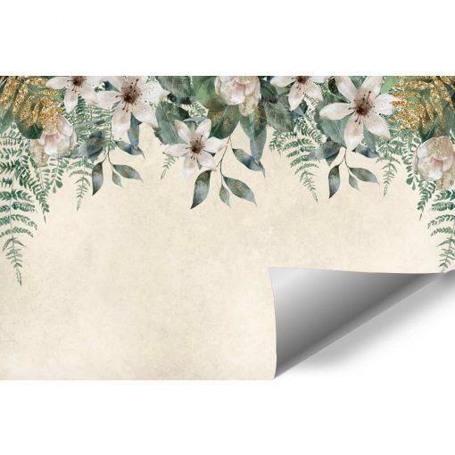 Harmonijna fototapeta z kwiatowym wzorem do gabinetu