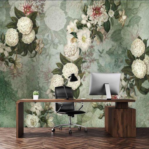 Kwiatowa kompozycja - Fototapeta do biura