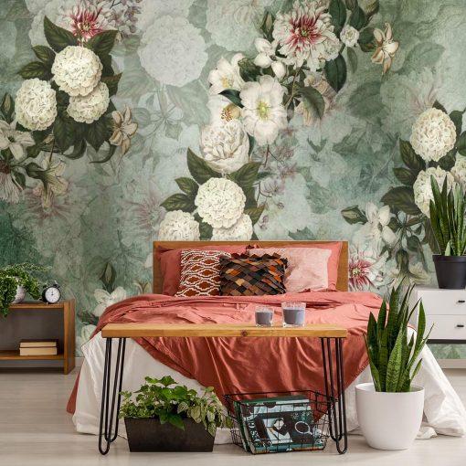 Kwiatowa kompozycja - Fototapeta do sypialni