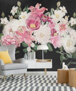 Kwiatowe motywy na tapecie