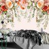 Kwieciste girlandy - Fototapeta botaniczna do sypialni