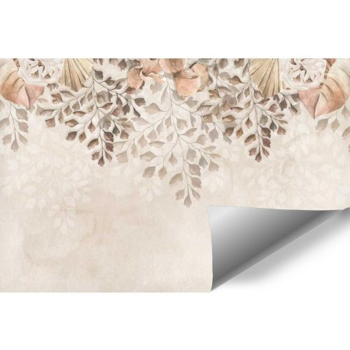 Subtelna foto-tapeta botaniczna do salonu kosmetycznego