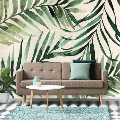 Tapeta li艣cie palmy kokosowej