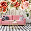 Tapeta w stylu rustykalnym do dekoracji salonu