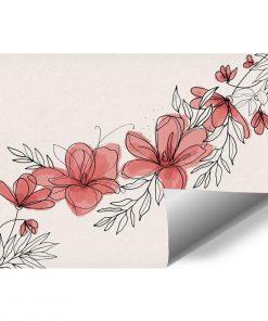 Tapeta z kwiatami w r贸偶u