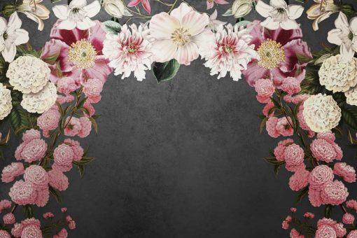 Tapeta z 艂ukiem kwiat贸w
