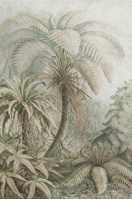 Tapeta z prehistorycznymi drzewami do kuchni