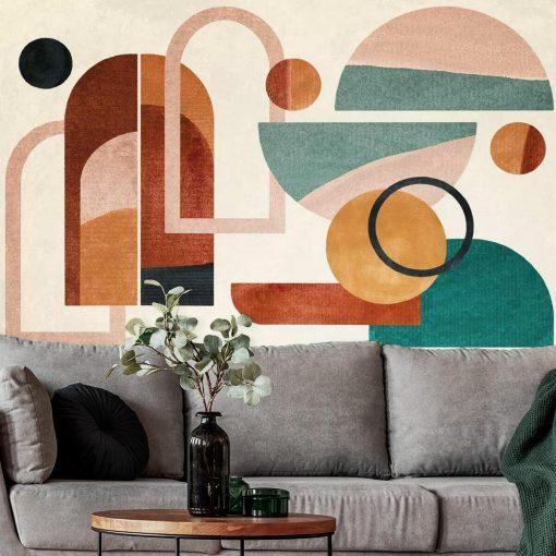 Fototapeta z geometrycznymi wzorami do salonu