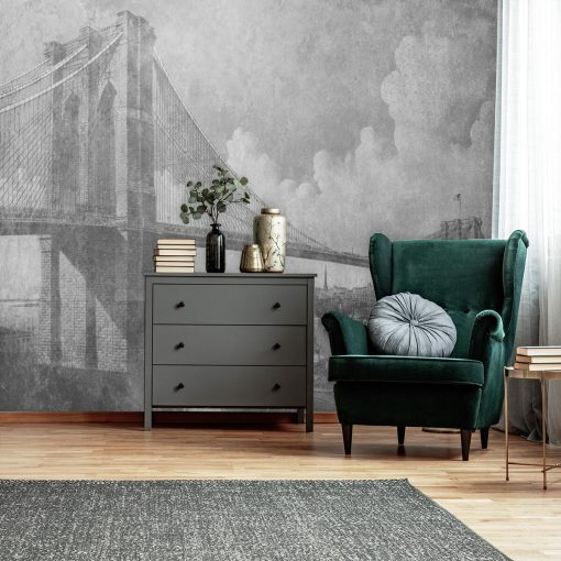 Fototapeta z mostem brookli艅skim do sypialni